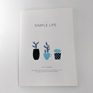 White Potted Plants Notebook
