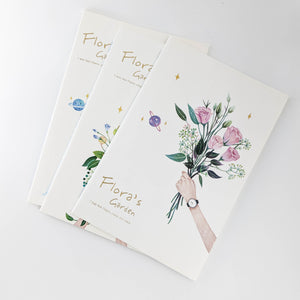 Assortment of Flowers Notebooks / set of 3