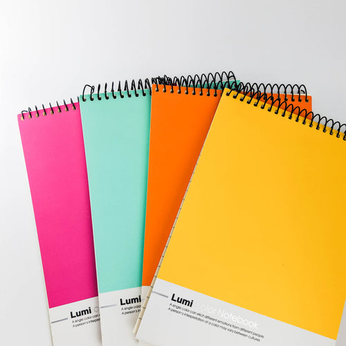 Assortment of Vibrant Colour Notebooks (4pcs)