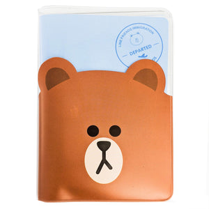 Brown Travel Passport Cover