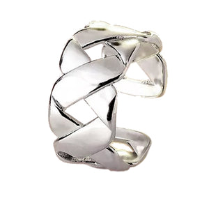 Silver-Tone Double Loopy Ring