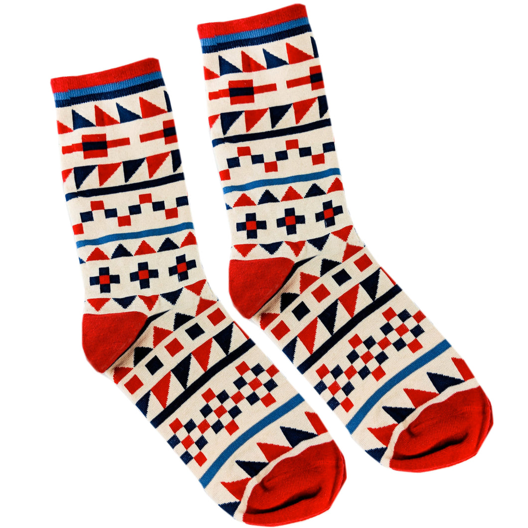 Tribal Print Socks