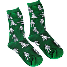 Load image into Gallery viewer, Green Patterned Socks