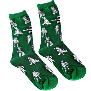 Green Patterned Socks