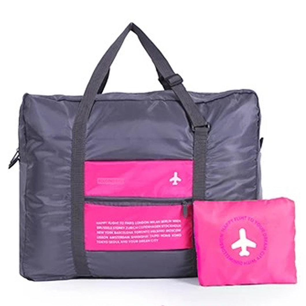 Pink Folding Travel Bag