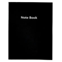 Load image into Gallery viewer, Large Lined Black Notebook