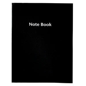 Large Lined Black Notebook