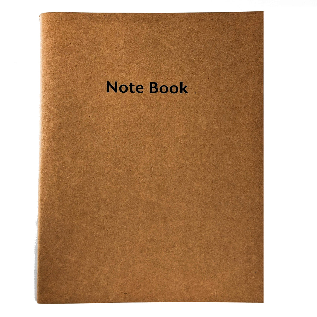Large Lined Brown Notebook
