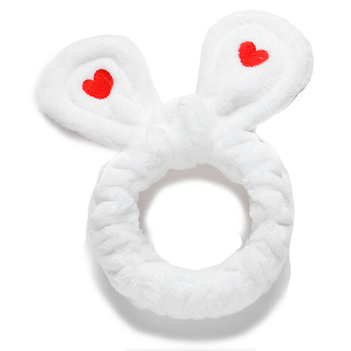 White Rabbit Ear Headband