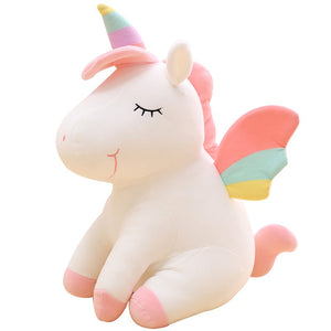 Plush Unicorn Stuffed Animal-Pink