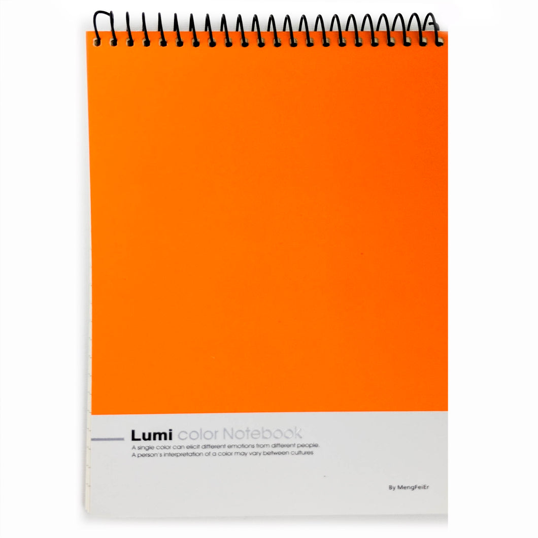 Vibrant Orange Notebook