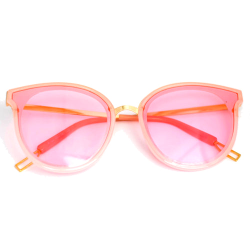 Light Pink Cate-Eye Frame Sunglasses