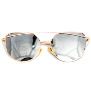 Yellow Cat-Eye Frame Sunglasses