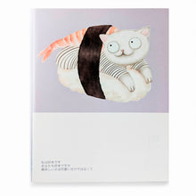Load image into Gallery viewer, Light Purple Sushi Cat Notebook