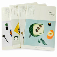 Load image into Gallery viewer, Assortment of Food Notebooks Set(4PC)