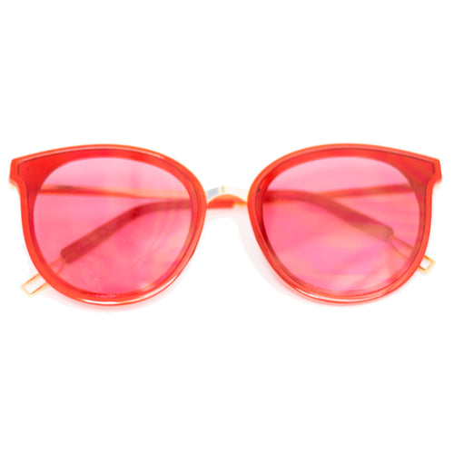 Hot Pink Cat-Eye Frame Sunglasses