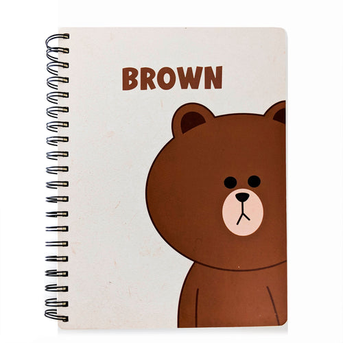 Large Brown White Notebook