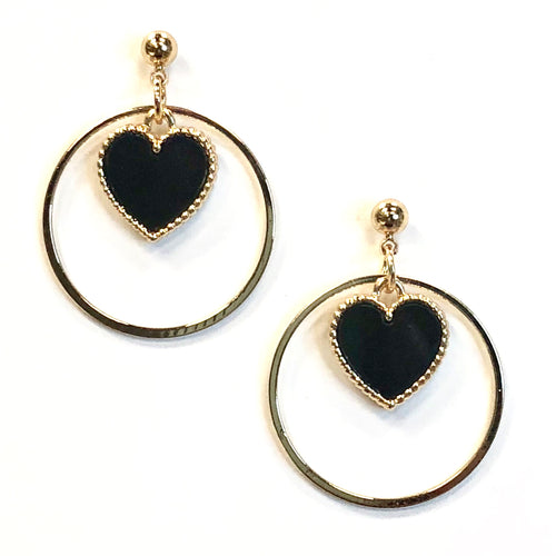 ESN015-Circular Heart Earrings