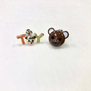 ESN005-TOY and Bear Earrings