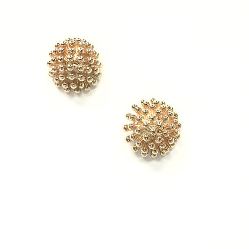 ESN001-Multi Speckled Dome Earrings