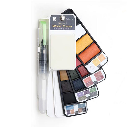 Watercolor Paint Set - 18 Colors