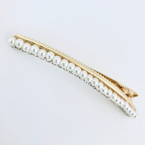 Pearl Lined Hair Clip