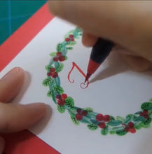 Load image into Gallery viewer, X'mas Greeting Card workshop