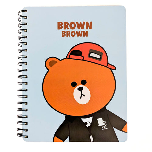 Large Brown Light Blue Notebook