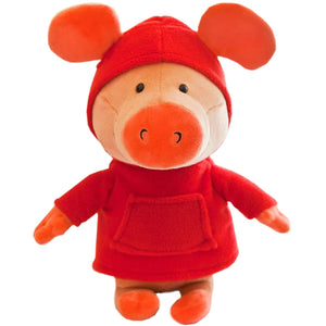 Red Sweater Pig Doll