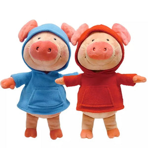 Blue Sweater Pig Doll