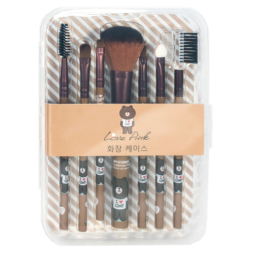 Brown 7pcs Makeup Brushes