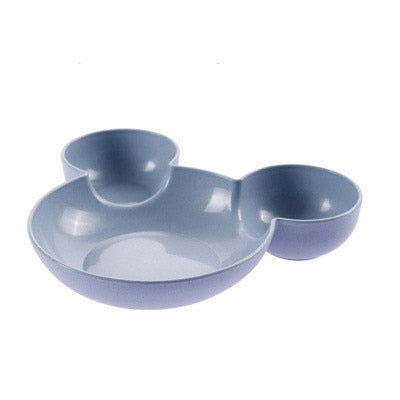 Cartoon Wheat Straw Baby Feeding Bowl