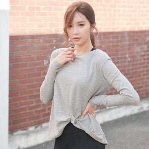 Loose Yoga Top - Gray / S