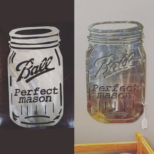 Mason Jar Metal Art