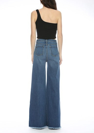 Front Seam Wide Leg Jeans