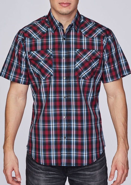 Men's Red and Blue SS Shirt