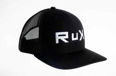 RuK Backpacks Adjustable Snap-Back / Black/Black Classic tRuKer Cap