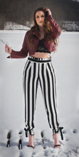 Load image into Gallery viewer, Striped Paper Bag Waist Pants
