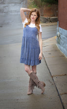 Load image into Gallery viewer, Acid Wash Slip Dress - Blue