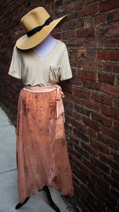 Just Peachy Wrap Maxi Skirt