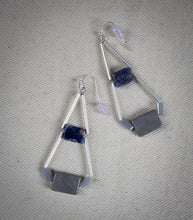 Load image into Gallery viewer, Sodalite Geometric Earrings