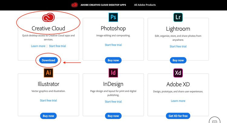download Adobe Creative Cloud desktop
