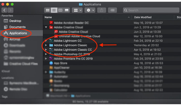 how to launch Adobe Lightroom application desktop