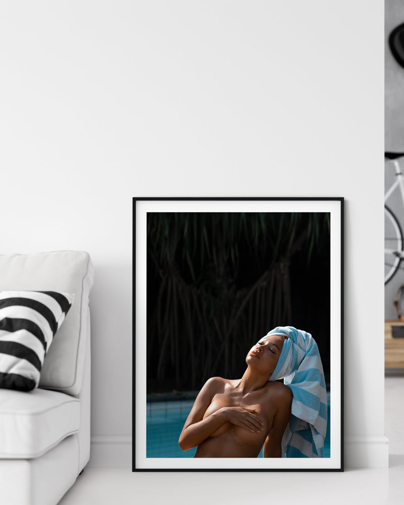 sensual photo print woman with towel