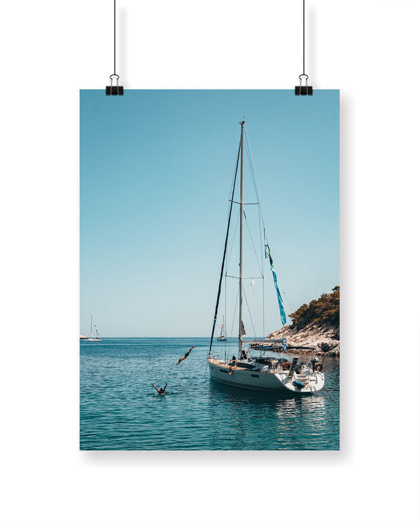 JUMPING OF SAILBOAT POSTER