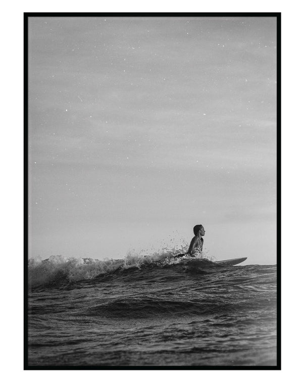 CATCH THE SURF BW PRINT