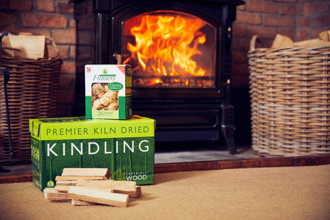 Kiln dried logs, kindling and Flamers natural firelighters