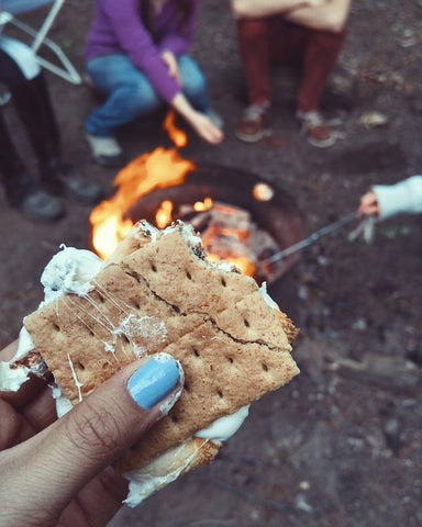 Mashmellow in a biscuit - smore