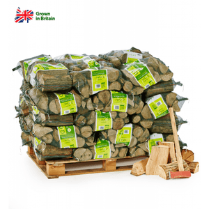 50 bags of seasoned logs on pallet