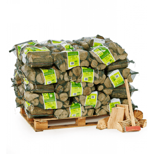50 bags of kiln dried logs on a pallet
